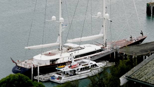 The 56-metre super ketch Fidelis is in town for two weeks and can be rented for a little over $319,000 - a week.