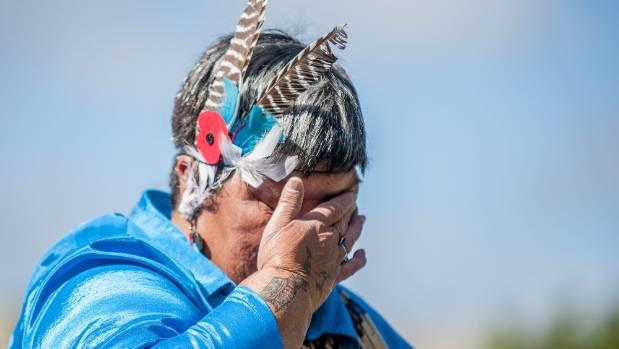 Kahu Chadwick, of Te Rerenga O Te Ra, gives an emotional performance.