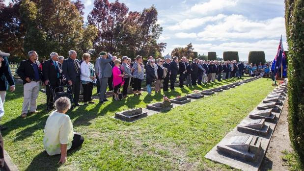 About 43 veterans and their families travelled to Blenheim for the ceremony.
