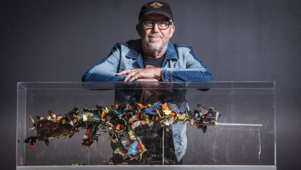 Wellington businessman Chris Parkin finally has the artwork he purchased in late 2015 made from a decommissioned AK-47 ...