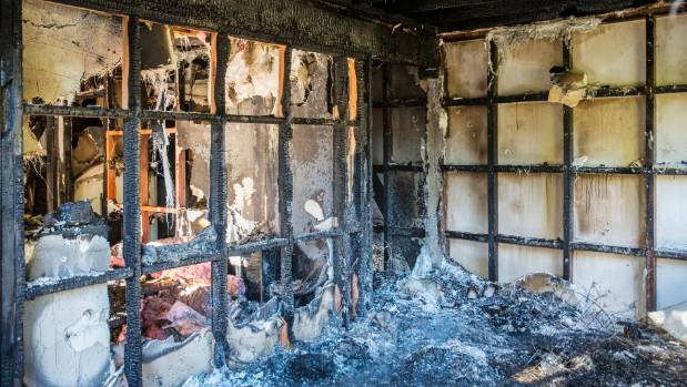The fire ripped through the home and consumed everything in its path, including clothes, laptops and university supplies.
