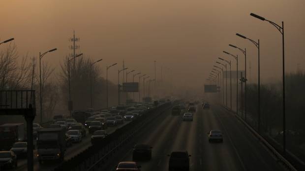 Heavy air pollution can be so bad in Beijing that health and visibility warnings are issued