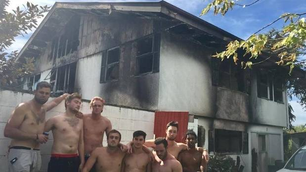 Eight flatmates lost all their possessions after fire ripped through their flat in Upper Riccarton, Christchurch, early ...