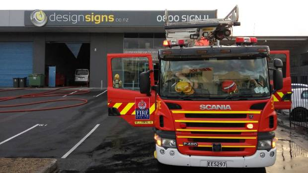 Fire crews were called to the blaze on Great South Rd about 6.15pm.