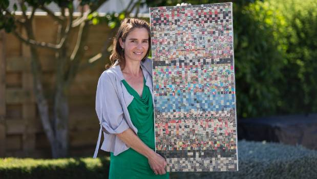 Bronwyn Walker has made an artwork out of five years of earthquake-related clippings from The Press.