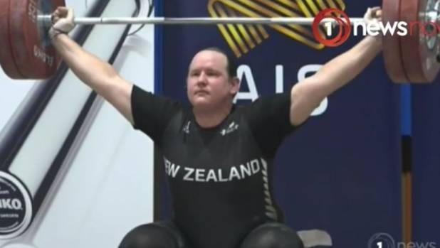 Laurel Hubbard won the women's over 90kg division title at an international event in Melbourne last weekend.