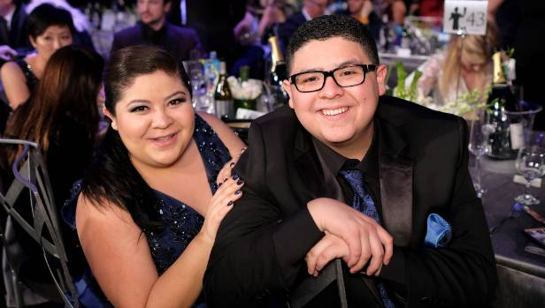 Actor Rico Rodriguez (right), who plays Manny on Modern Family, with sister Raini Rodriguez. The pair lost their father ...