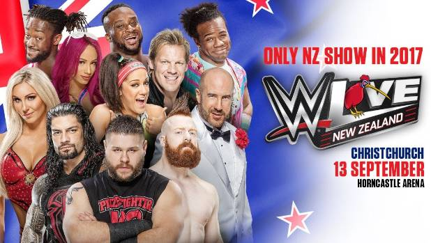 The WWE Live event will be staged in Christchurch this September.