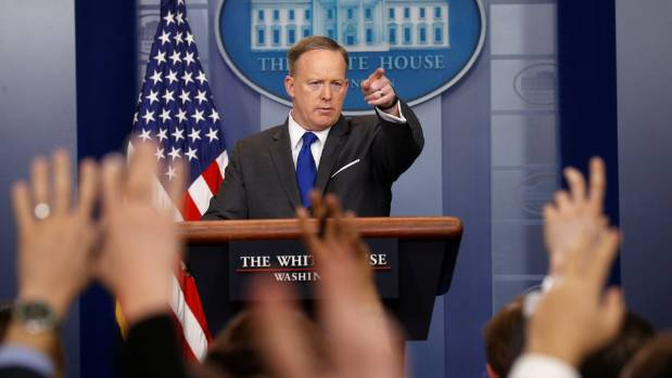 """White House spokesman Sean Spicer: """"We are still at the beginning phase of a look as to what kind of surveillance took ..."""
