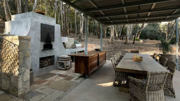 And there's always the outdoor kitchen for alfresco entertaining.