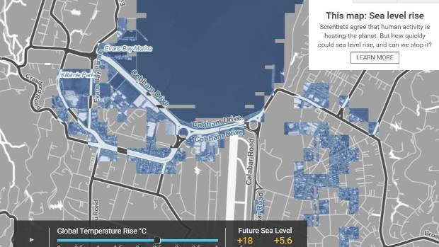 although wellington central gets off lightly a few bays around wellington harbour miramar would