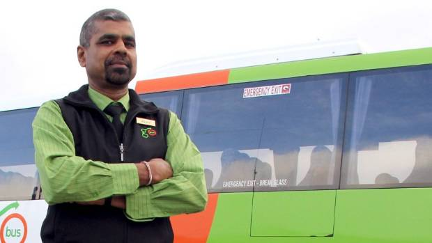 Invercargill bus driver, Anoop Kumar, who took home the award for ???Top Theory??? at Go Bus Transport???s Bus Roadeo in ...