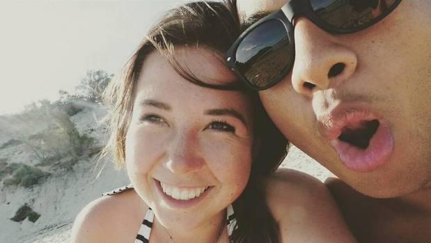 Temson Junior Simeki and his partner, Leonie Hafke, were swept away in Angel's Billabong.