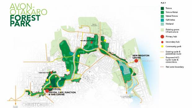 Greening the Red Zone's plan for a native forest park in the red zone.