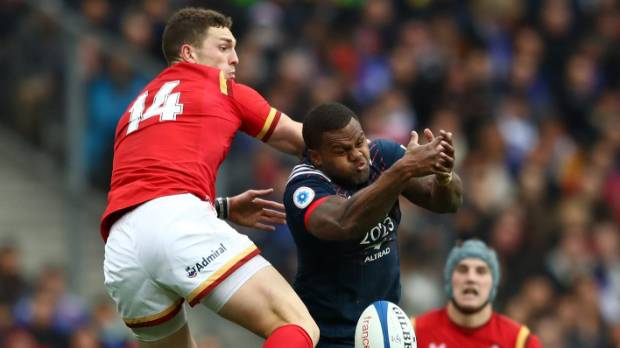George North, left, claimed he was bitten during Wales' loss to France but the citing commissioner found no evidence of ...