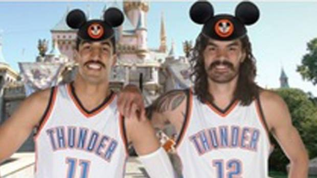 Enes Kanter and Steven Adams are the Stache Brothers.