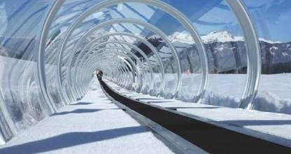 The enclosed double conveyor belt is set to land at The Remarkables.