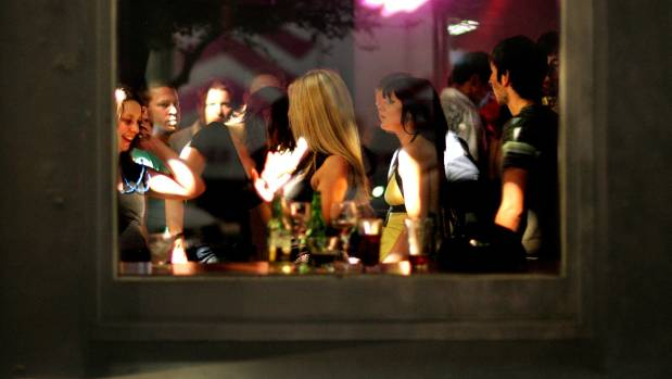 Young women enjoying the night life in Courtenay Place, Wellington. (FILE)