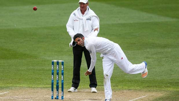 Keshav Maharaj of South Africa has 13 wickets at 13.92 in the test series to date and is headed to Hamilton where the ...