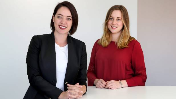 SilverStripe chief marketing officer Nicole Williams and Victoria business student Jasmine Rowland are helping to drive ...