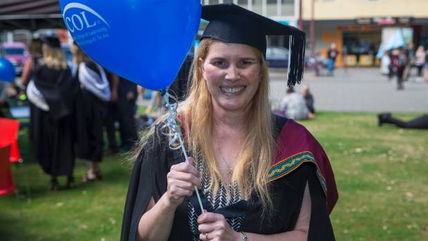 Alison MacKenzie has graduated from UCOL with an IT qualification, a day she feared she would never get to experience.