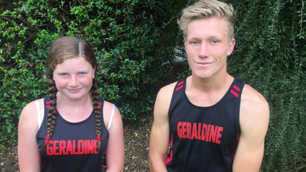 Nora Quigley and Stephen Harding broke Geraldine High School athletic records recently.