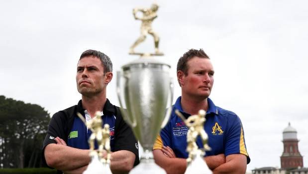 Invercargill-Old Boys captain Jamie May, left, and Appleby captain Jamie Clark with Southland's one-day club cricket ...