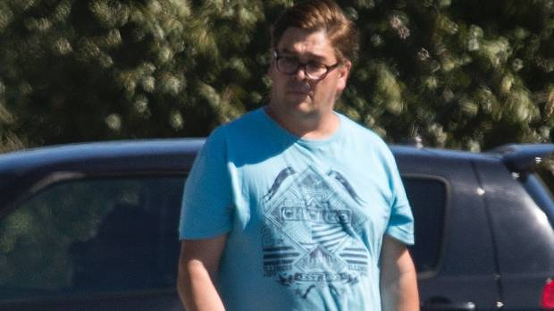 Convicted fraudster Wayne Eaglesome pictured in Christchurch last week.