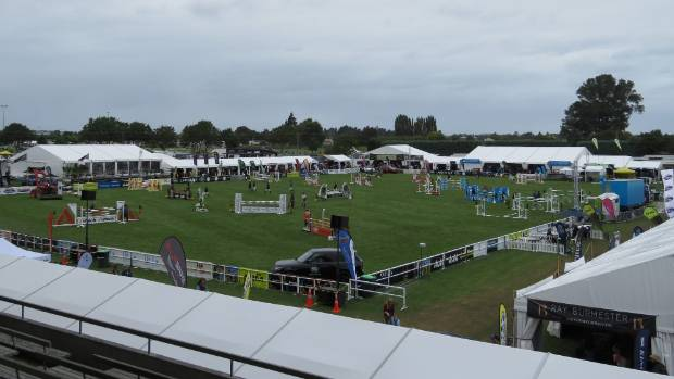 The main arena at the Hawke's bay Showgrounds, hosting the Horse of the Year event.
