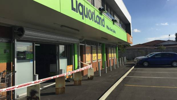 Police are searching for people involved in an armed robbery at Liquorland on College St, Palmerston North.