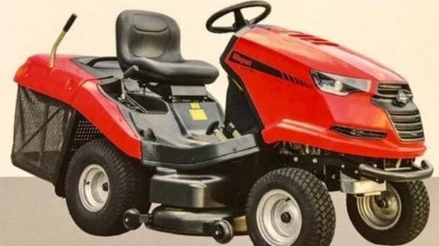 The people of Aotearoa Marae are offering a $1000 reward for this mower, which was taken in the burglary.