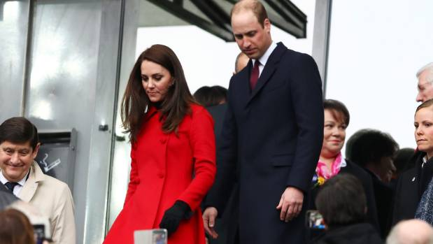 Carolina Herrera designed the red coat Kate wore to the Six Nations rugby match in Paris.