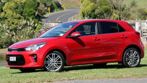 Kia Rio styling conservative but appealing. Tiny engine and four-speed auto work better here than in Hyundai i20.