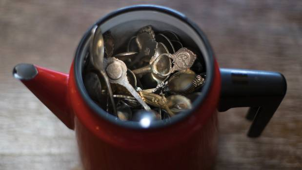 Teaspoons and Italian coffee pots offer a quirky style.