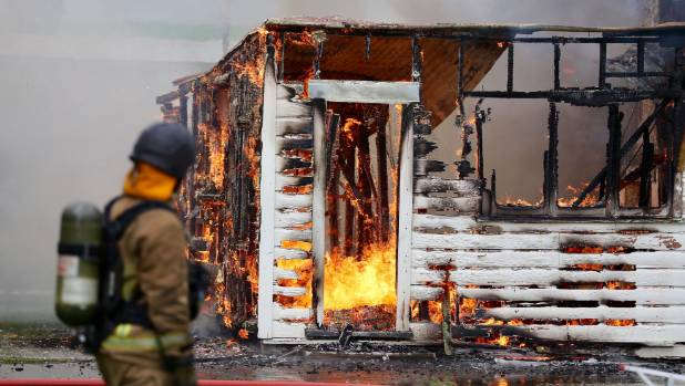 The Palmerston North house used for the virtual reality game was burned down in October.
