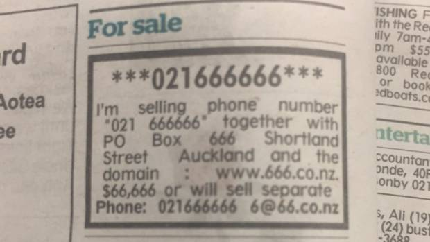Kiwi obsessed with Devil's number selling satanic collection