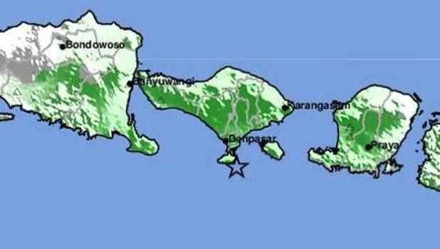 Strong natural disaster strikes off Indonesia's Bali island