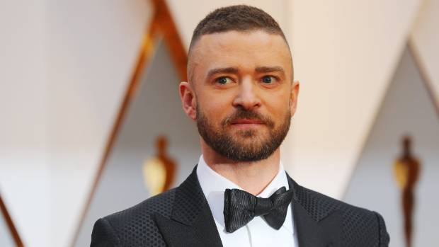 Justin Timberlake opts for a fade with a textured finish up top.