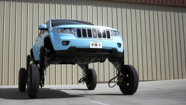 Car That Raises To Drive Over Other Cars