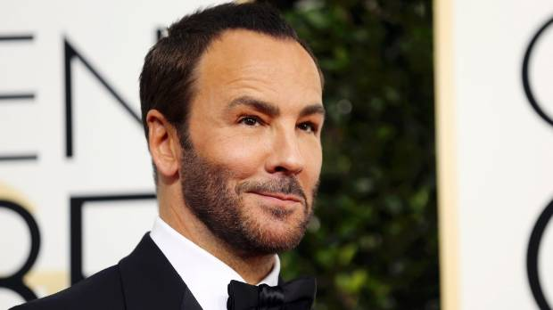 Tom Ford has embraced his hairline, but kept enough length for texture.