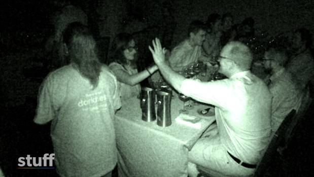 Guests at Dans Le Noir dine in complete darkness, and have to rely on their other senses during the experience.