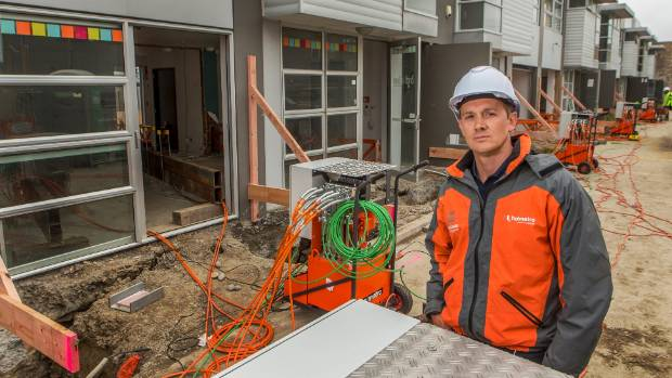 Rod Moore, of House Lifters, at a commercial property he has lifted to level.