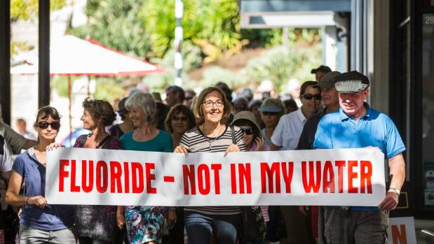 A protest in Nelson against fluoridation. (File photo)