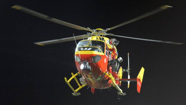 Westpac Rescue's helicopter and a Coastguard launch attended the late night Auckland Harbour boat collision.