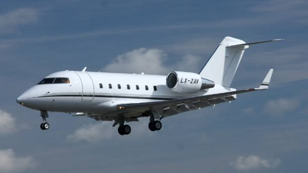 The Bombardier Challenger 604 was carrying nine passengers and two crew at the time