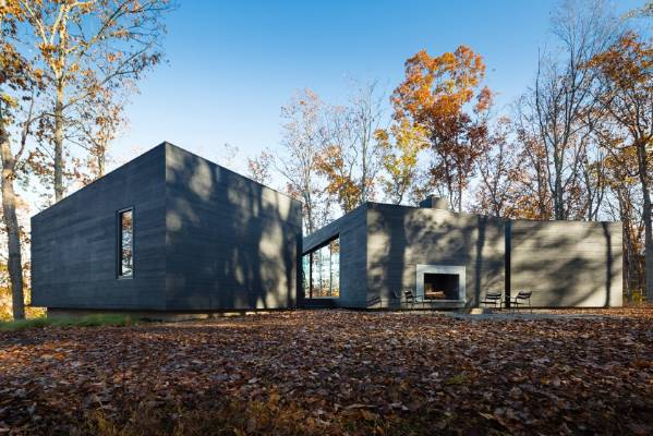 The house has three distinct volumes, each serving its own function. The kitchen and the living room occupies the ...