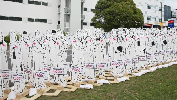 A public demonstration outside the Henry Bennett Centre in Hamilton earlier this year, aimed at getting better mental ...