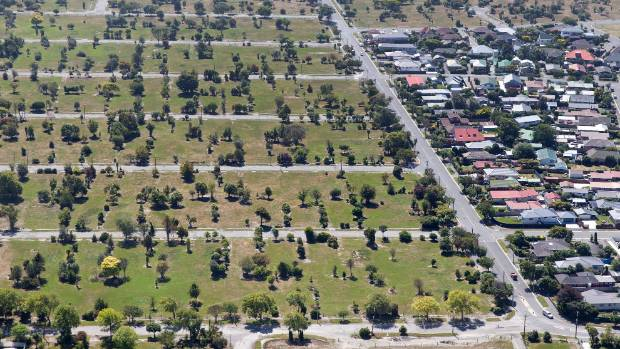 Houses bordering the residential red zone in  Avondale.