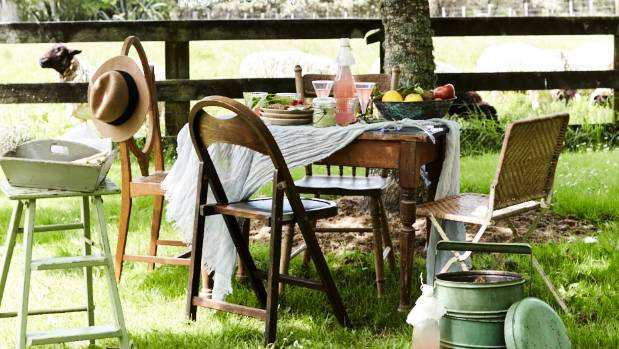 Begg says the arrival of spring brings with it outdoor dining. This wonderful outdoor setting has been created using ...