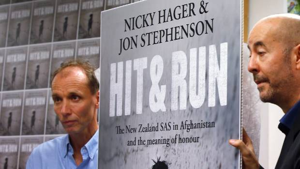 Nicky Hager and Jon Stephenson at the release of Hit and Run. Their book alleges the SAS led a raid which killed six ...